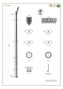Стълб за прожектори от поцинкована стомана