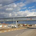 Стоманен пешеходен поцинкован мост пасарелка