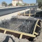 Фундамент за пешеходен надлез пасарелка