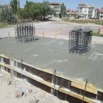 Фундамент за пешеходен мост пасарелка