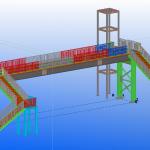 Стоманен пешеходен мост по проект - конструкция на пасарелка